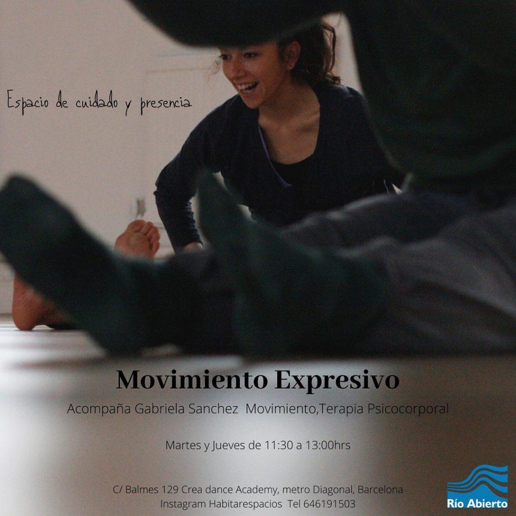 Río Abierto a Barcelona, moviment expressiu, creixement personal i treball psicocorporal.